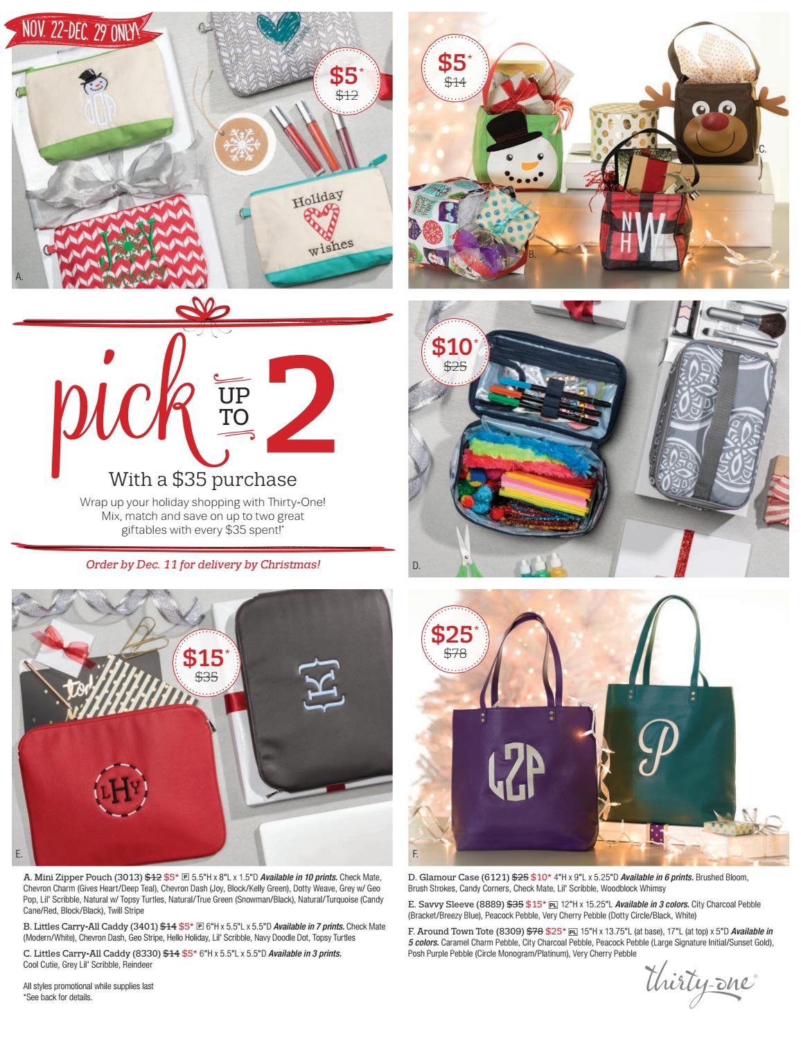 Thirty One Gifts December Customer Special 2017 By