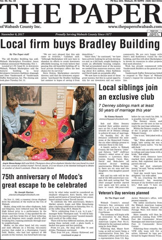The Paper Of Wabash County Nov 8 2017 Issue By The Paper Of