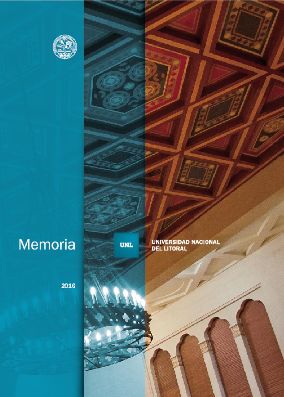 fa68bd4bc3 Memoria Institucional   2016 by Universidad Nacional del Litoral - issuu