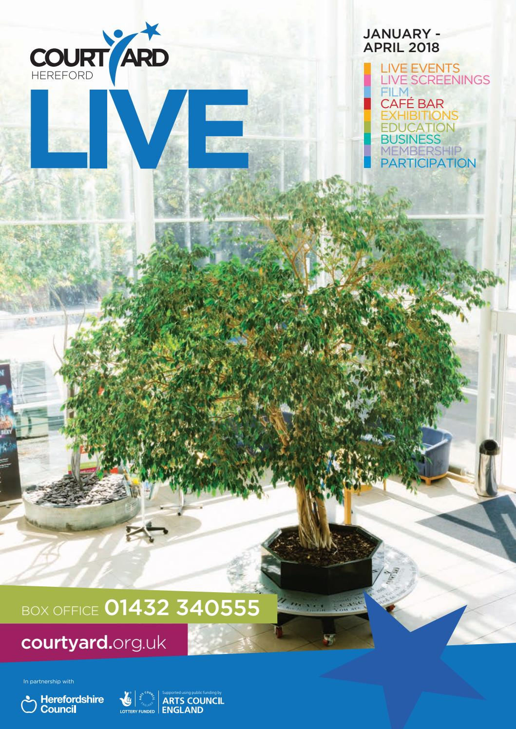 Courtyard Live Guide| January - April 2018 by Courtyard Arts - issuu