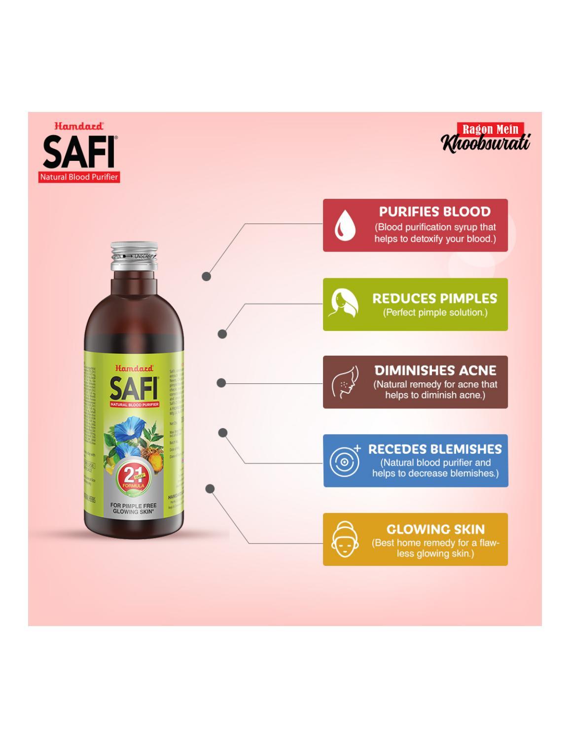 Herbal Blood Purifier For Healthy & Glowing Skin - Hamdard Safi by