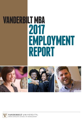 Vanderbilt MBA Employment Report by Vanderbilt Owen Graduate School