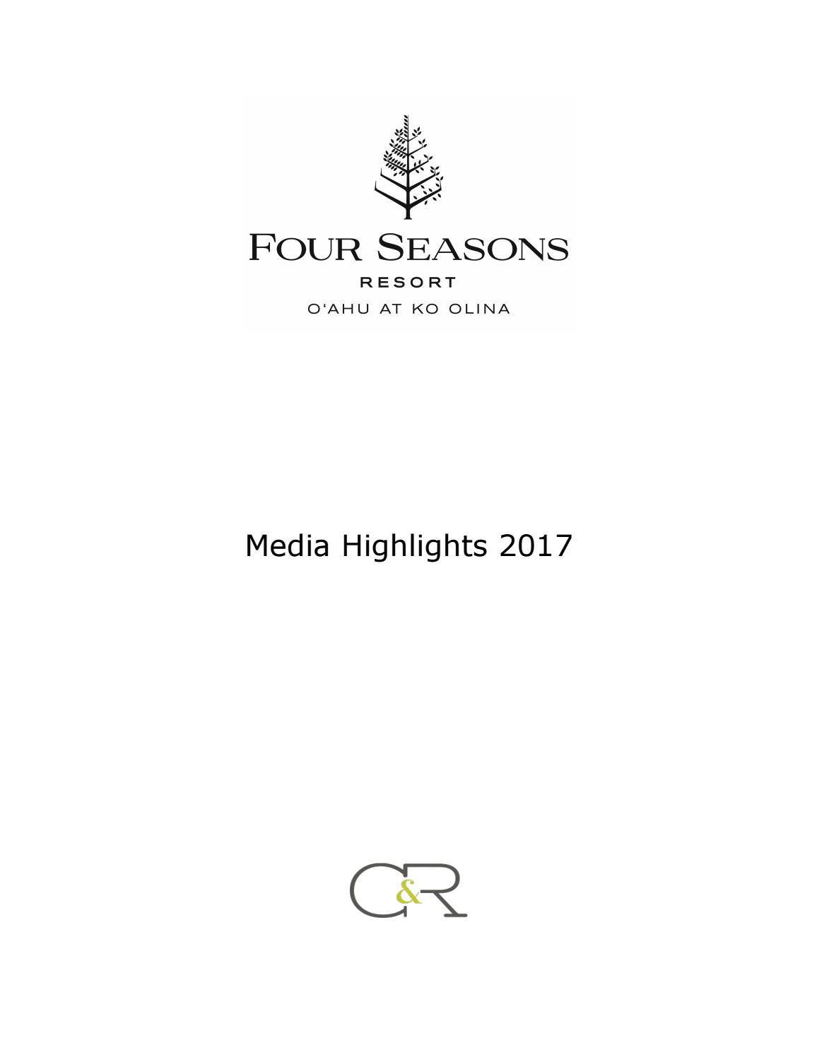 Enjoyable Four Seasons Oahu Media Highlights 2017 By Cr Pr Issuu Beatyapartments Chair Design Images Beatyapartmentscom