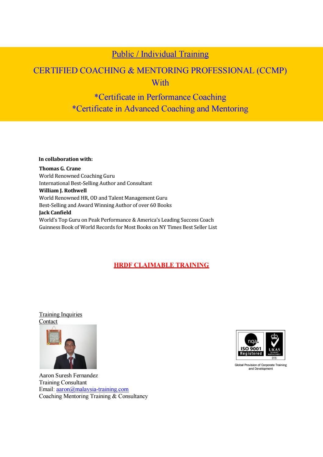 Coaching Mentoring Training Courses Malaysia By Coachingmentoring