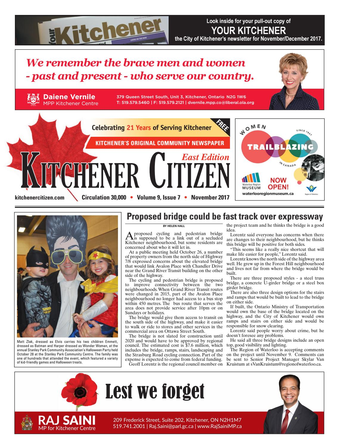 Kitchener Citizen - East Edition - November 2017 by Kitchener ...