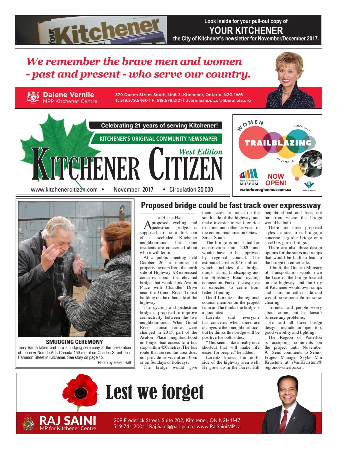 Kitchener Citizen - West Edition - November 2017 by Kitchener ...