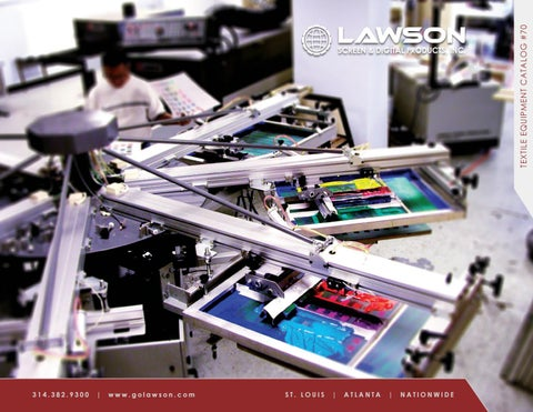Lawson Screen Printing Equipment Catalog 70 By Lawson Screen