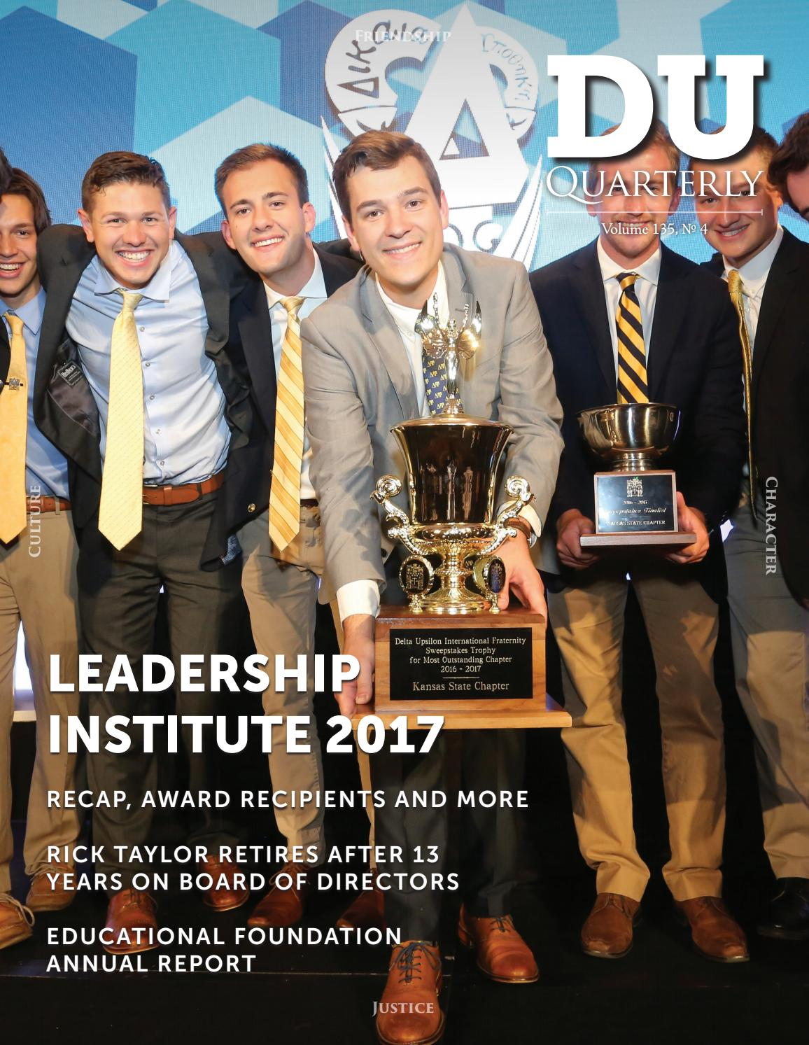 DU Quarterly: Vol  135 4 by Delta Upsilon - issuu