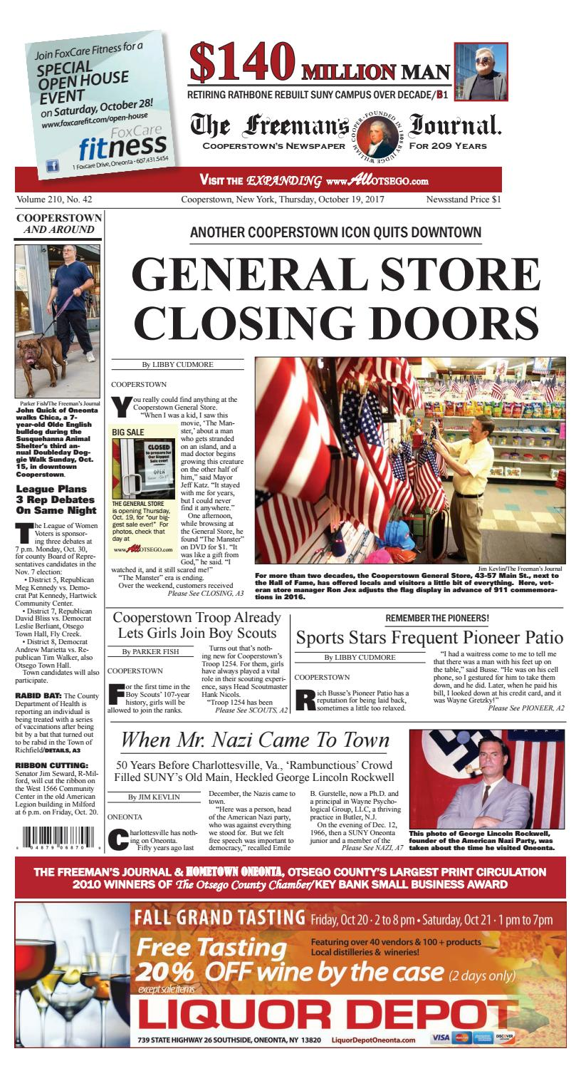 d5755e77485c81 The Freeman s Journal 10-19-17 by All Otsego - News of Oneonta ...