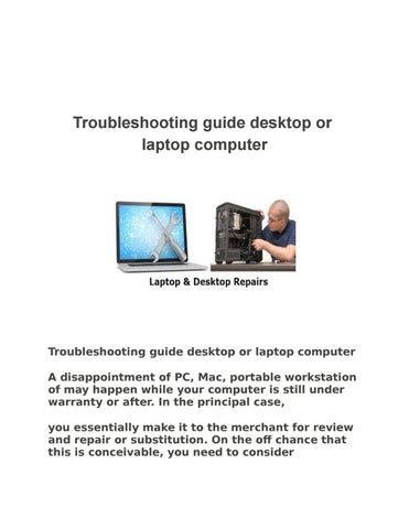 troubleshooting guide desktop or laptop computer by shane issuu rh issuu com Best Laptop Computers Laptop Computer Clip Art