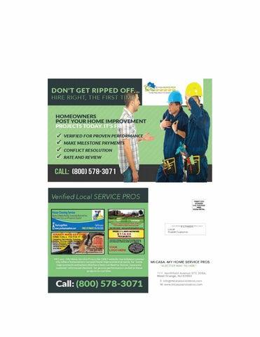 943996c966f Door-toDoor Shared Advertisement Postcard   Mi Casa My Home Service Pros