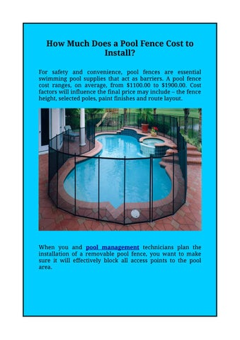 How Much Does A Pool Fence Cost To Install Ami Blog 03 11 17 By