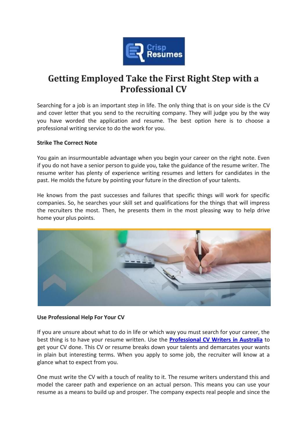 Professional CV writers in australia by Abhinav Bajaj - issuu
