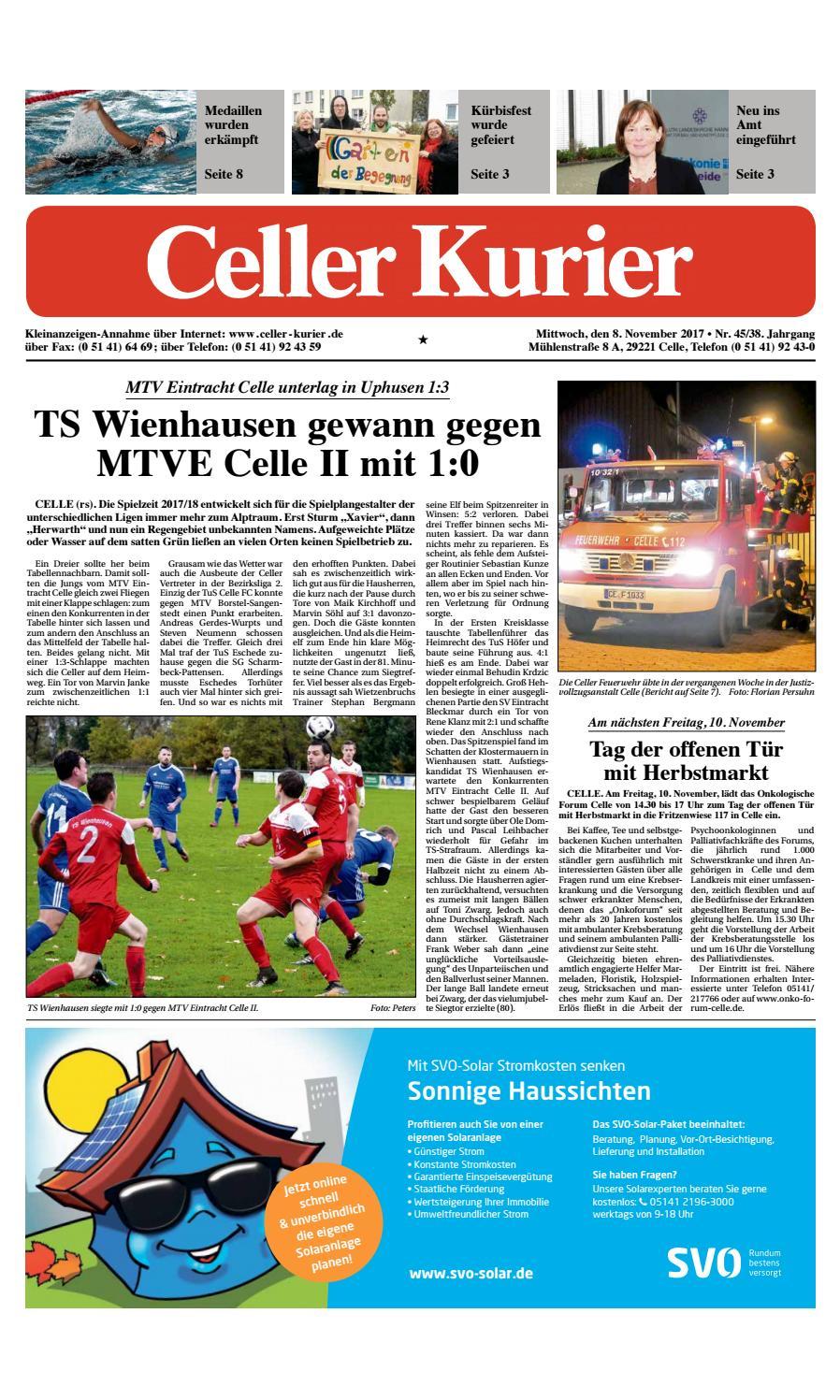 KW45 Celler Kurier Ausgabe Mittwoch by Celler Kurier - issuu