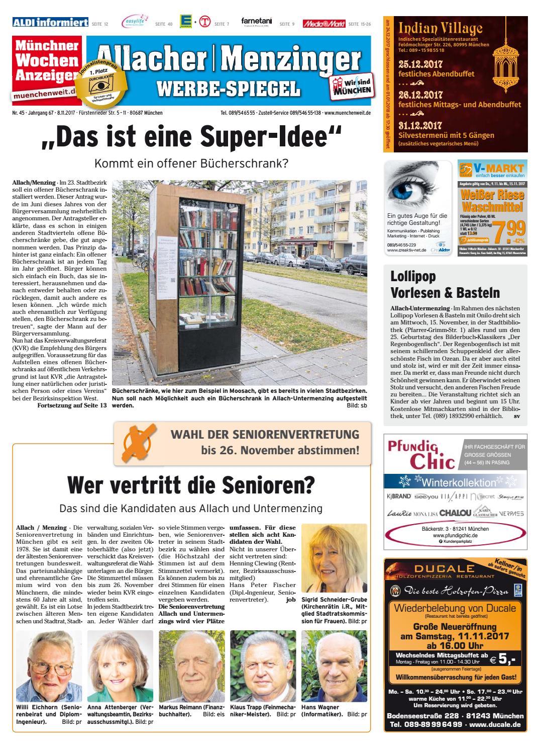 1ddd6bd98e KW 45-2017 by Wochenanzeiger Medien GmbH - issuu