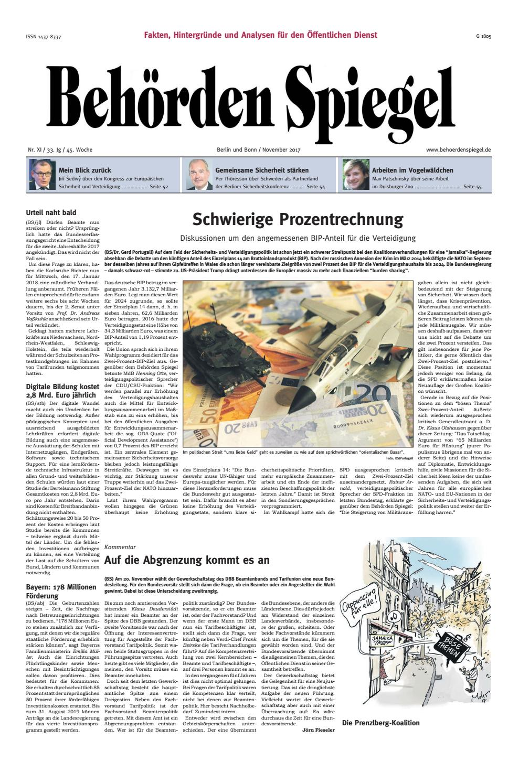 Behörden Spiegel November 2017 by propress - issuu
