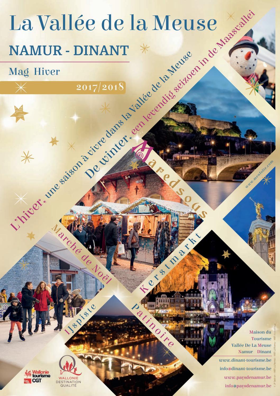 Mag hiver vall e de la meuse namur dinant by maison du tourisme vall e de la meuse namur - Office du tourisme dinant ...