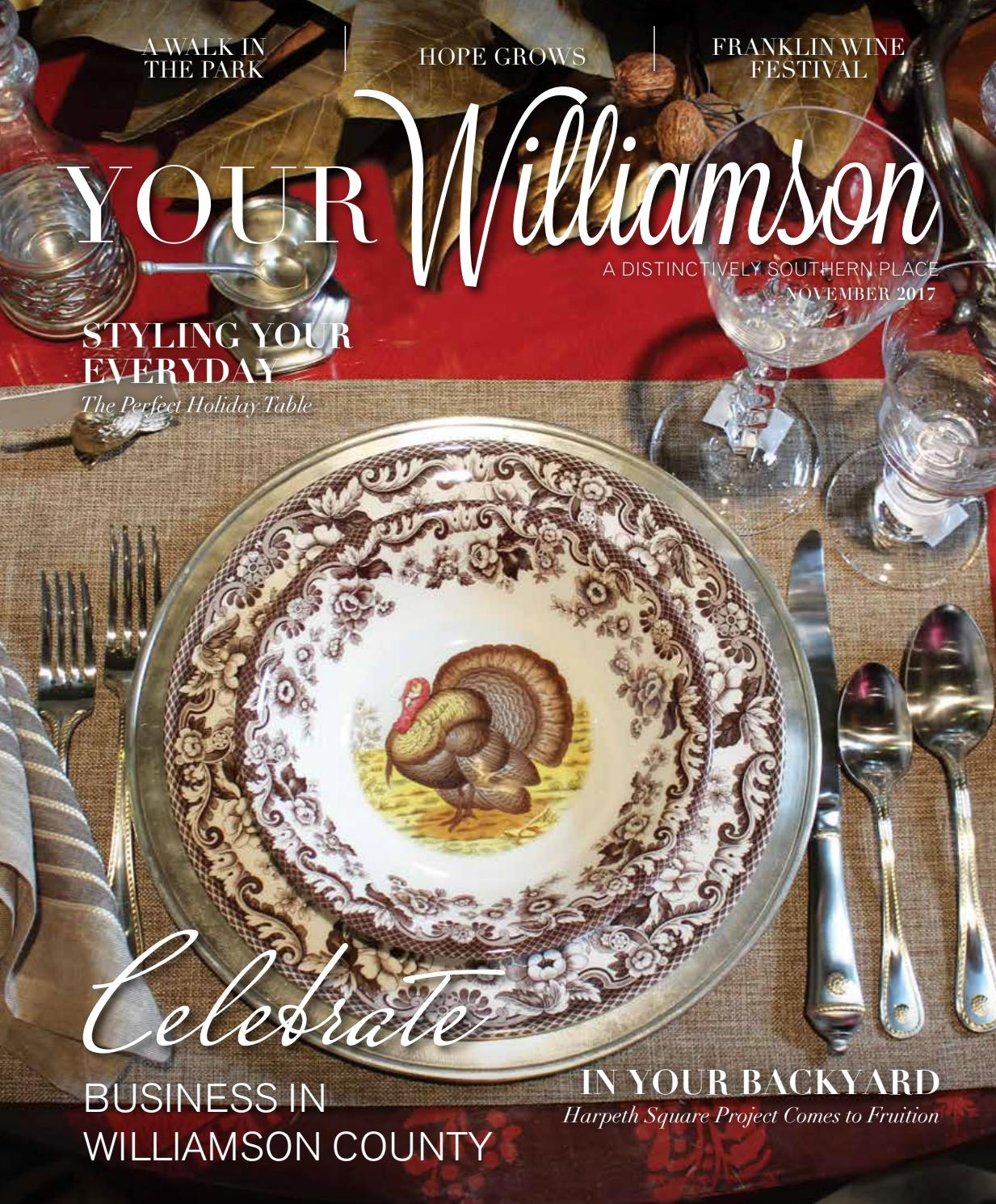 Your Williamson November 2017 By Robertson Media Group Your Williamson Your Sumner Distinctively Southern Wedding Issuu