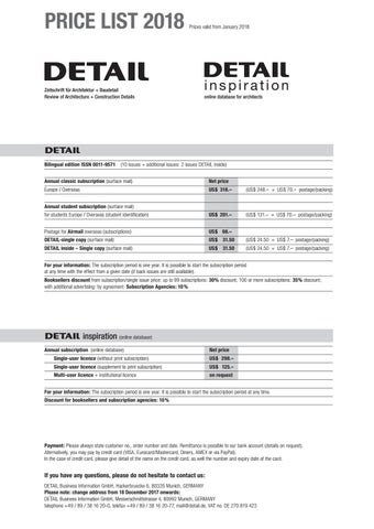 92796a6d2cb1 DETAIL and DETAIL inspiration pricelist 2018 by DETAIL - issuu
