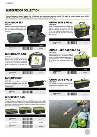 Gunki Fishing Safe Bag
