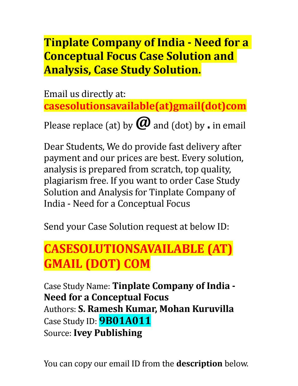 a case solution