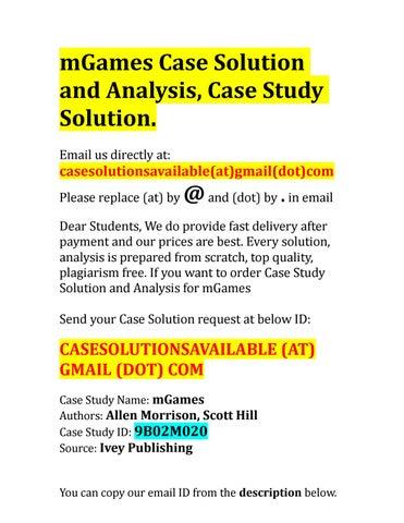 mgames case study