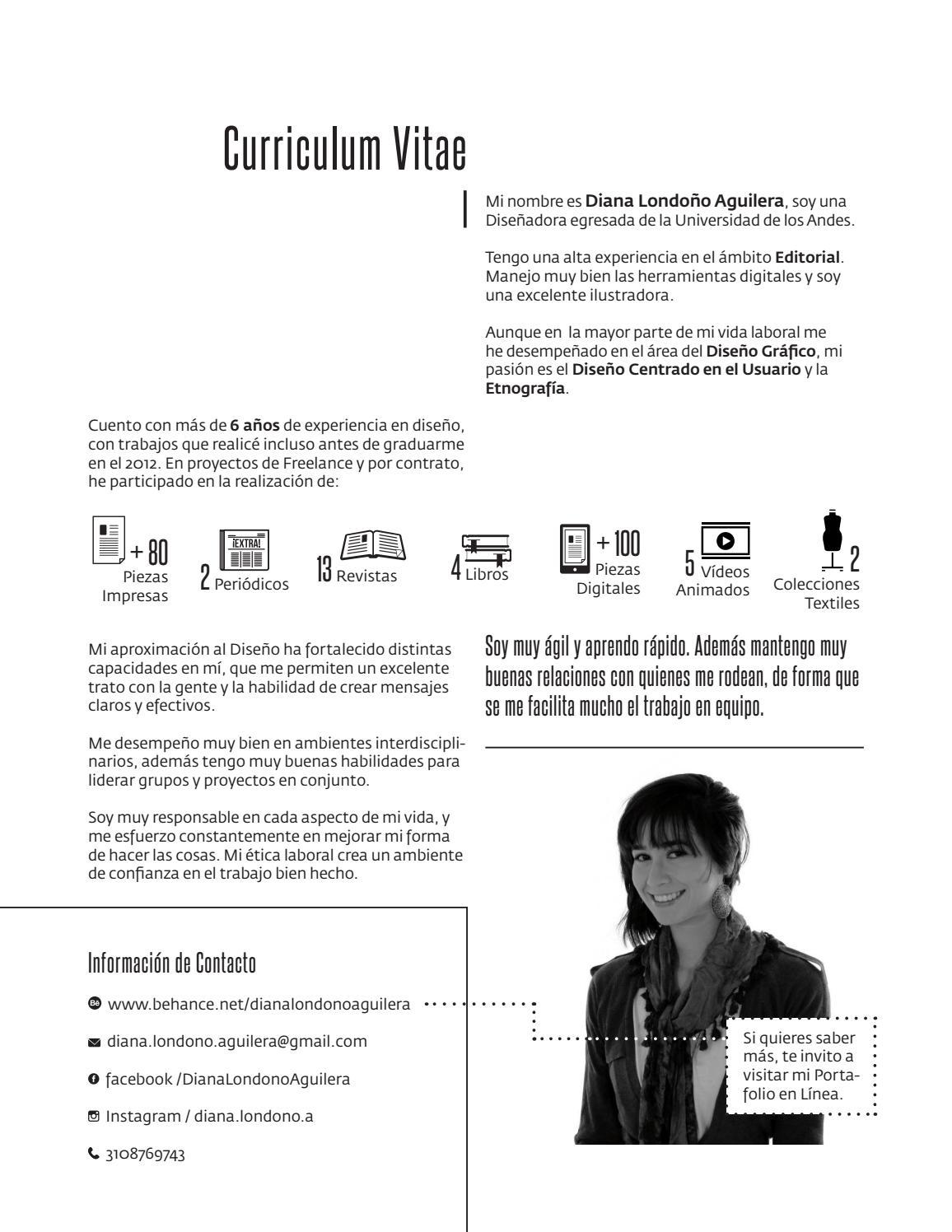 Curriculum Vitae. by Diana Londoño Aguilera - issuu