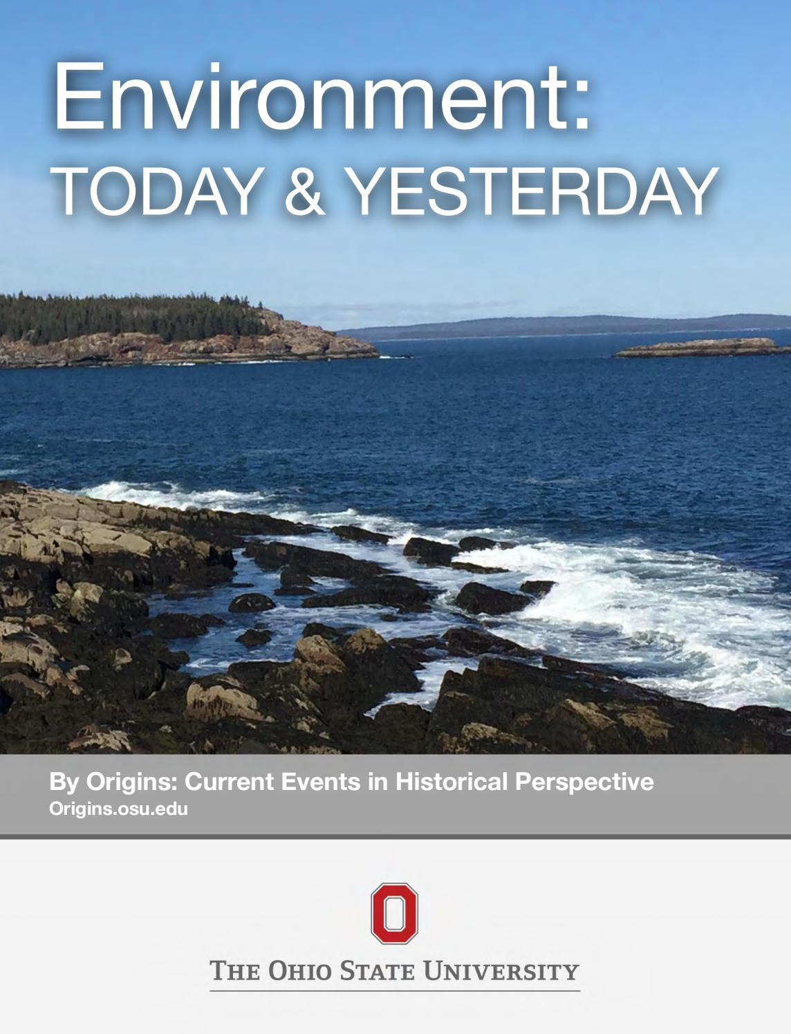 Environment Today Amp Yesterday By Department Of History At