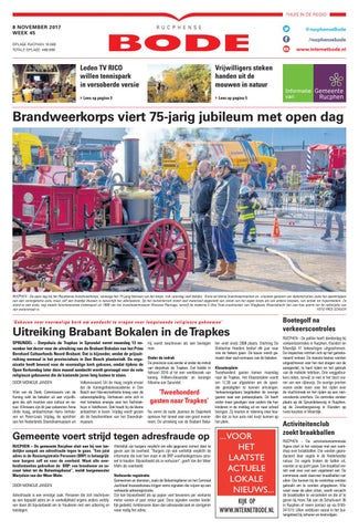 9d012759bec Rucphense Bode 08-11-2017 by Uitgeverij de Bode - issuu