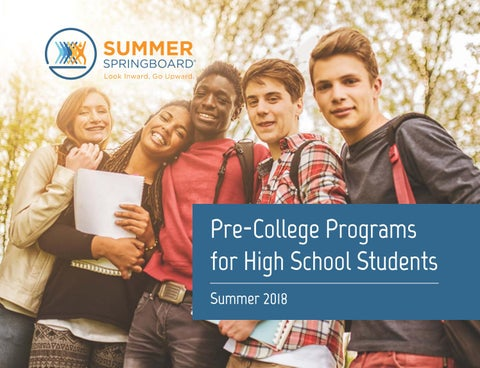 Summer springboard 2018 catalog by terra education issuu pre college programs for high school students summer 2018 malvernweather Gallery