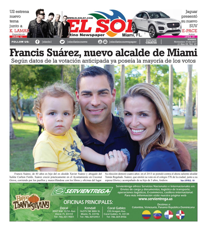 El Sol Miami Vol03#47 Noviembre 10-2017 by El Sol Latino Newspaper ...