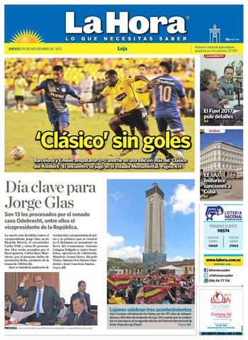 Diario La Hora Loja 09 de Noviembre 2017 by Diario La Hora Ecuador ... ac63ecdd1f2
