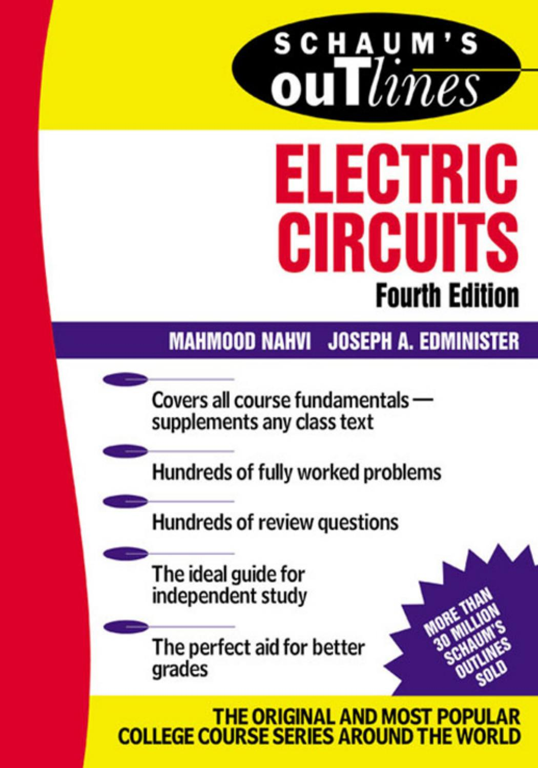 Schaum S Outline Of Electric Circuits 4th Edition By Tariq border=