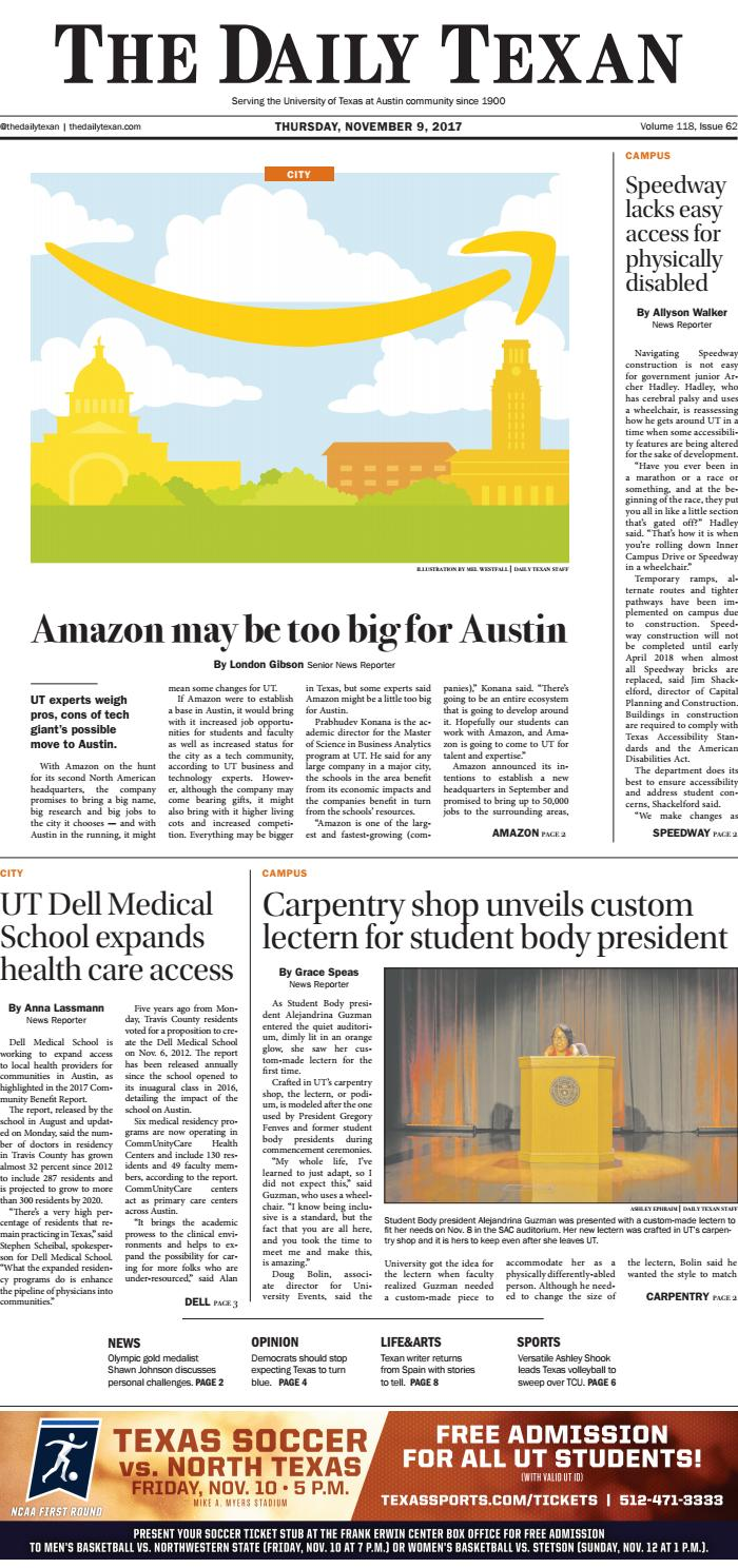 6b0ccfb9986247 The Daily Texan 2017-11-09 by The Daily Texan - issuu