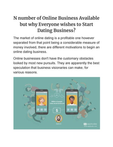 how to start an online dating business