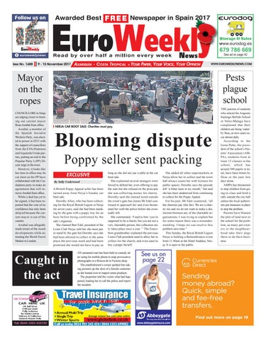 0a986f8f8e342 Euro Weekly News - Axarquia 9 – 15 November 2017 Issue 1688 by Euro ...