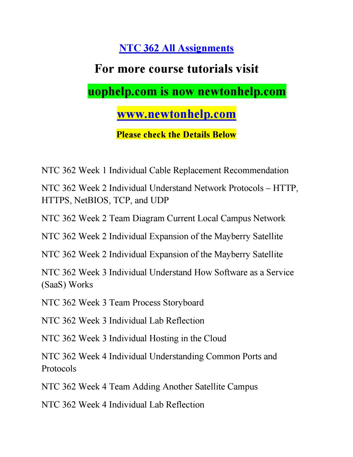 Ntc 362 All Assignments By Zxcvm Issuu Satellite Internet Wiring Diagram