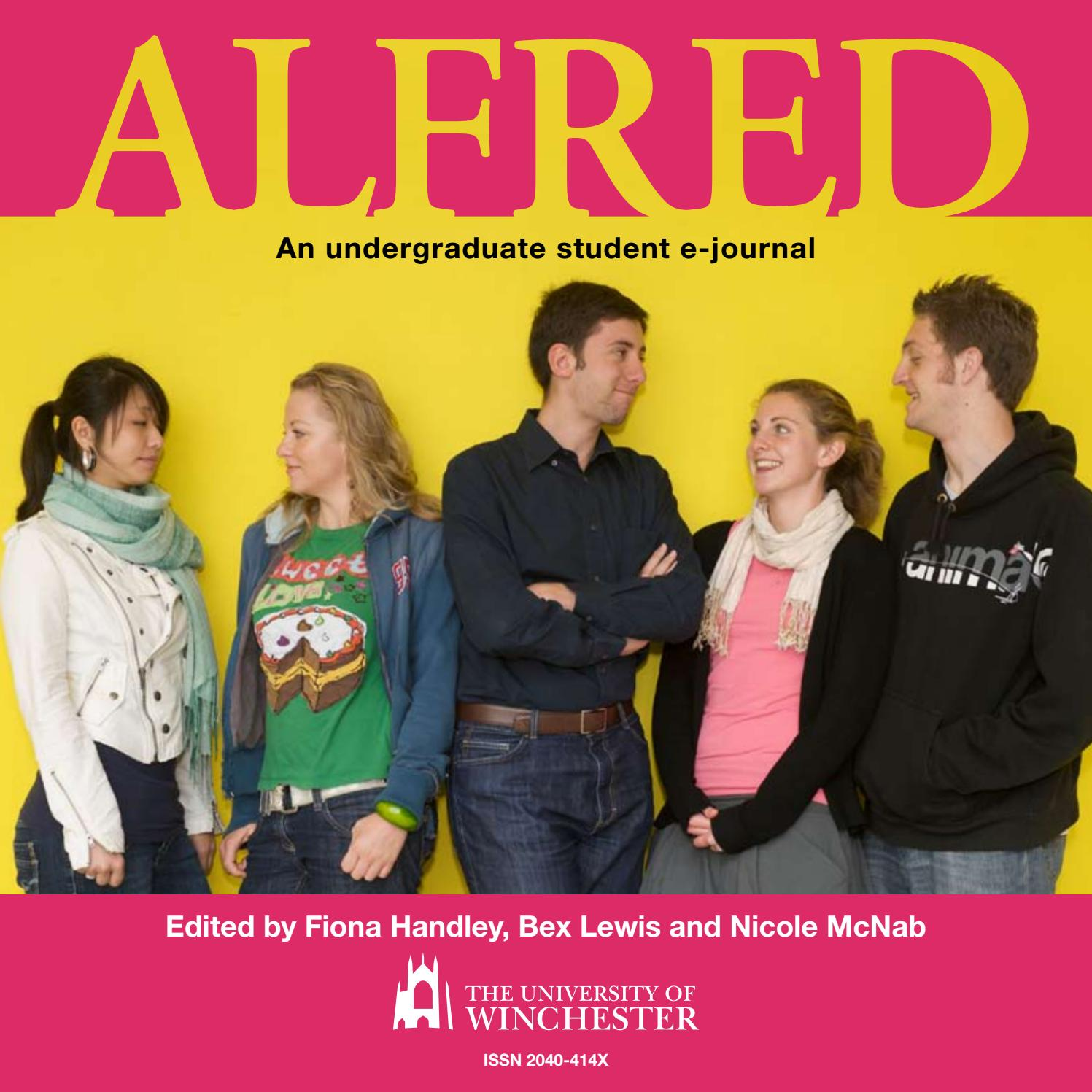Alfred Volume 1 by University of Winchester - issuu