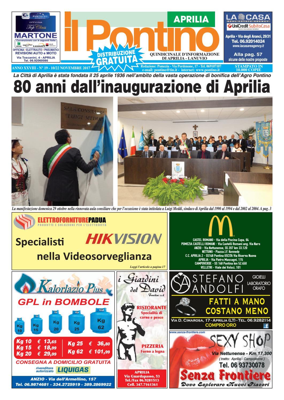 Il Pontino Aprilia - Anno XXVIII - N. 19 - 10 22 Novembre 2017 by Il  Pontino Il Litorale - issuu 1a853b4f47f4