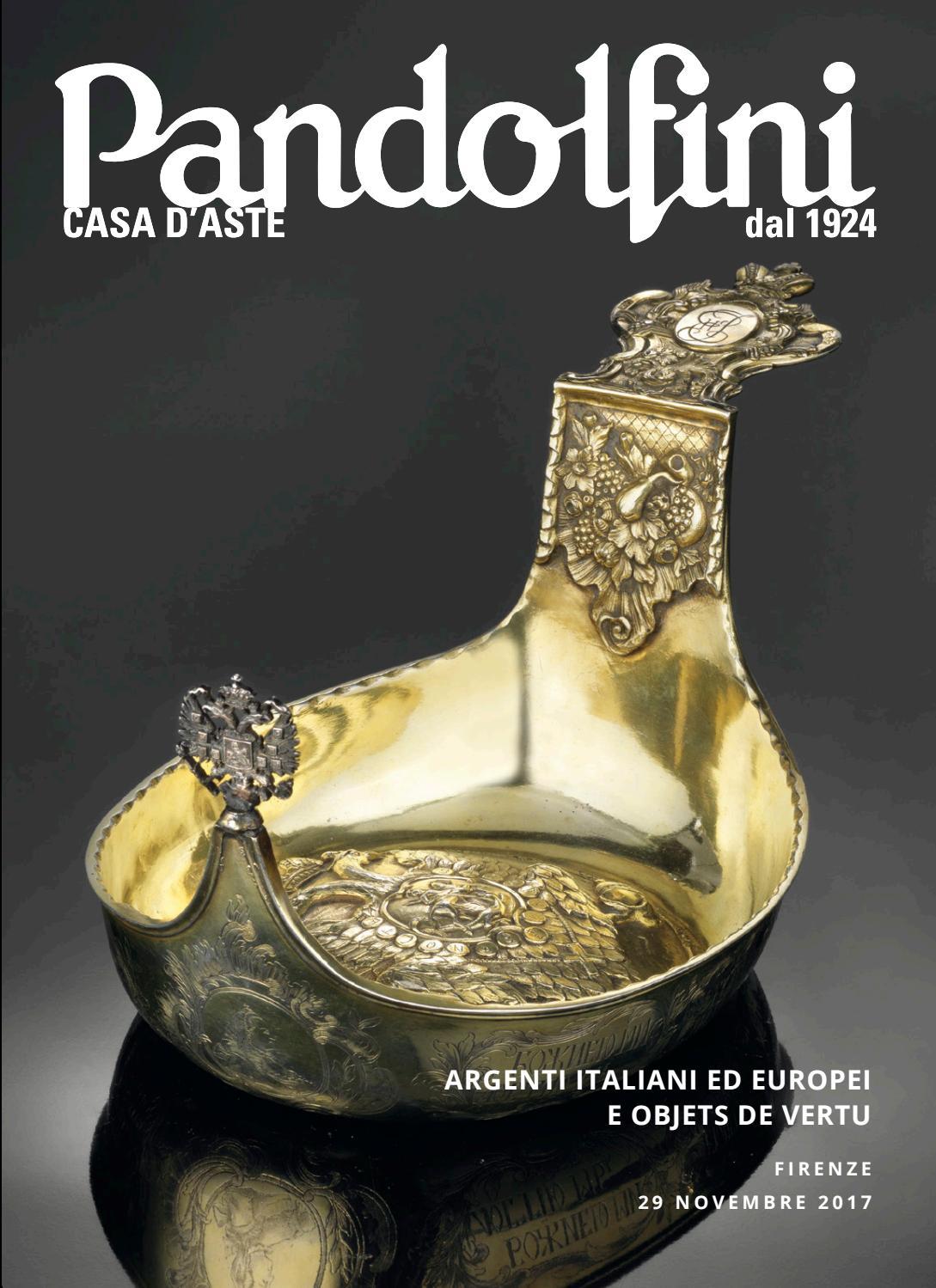 nuovo design 100% genuino bene ARGENTI ITALIANI ED EUROPEI ED OBJETS DE VERTU by Pandolfini ...