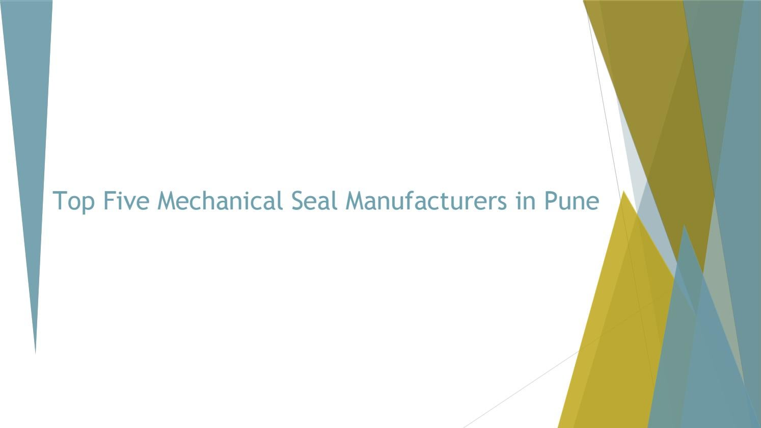 Top five mechanical seal manufacturers in pune by leak-pack