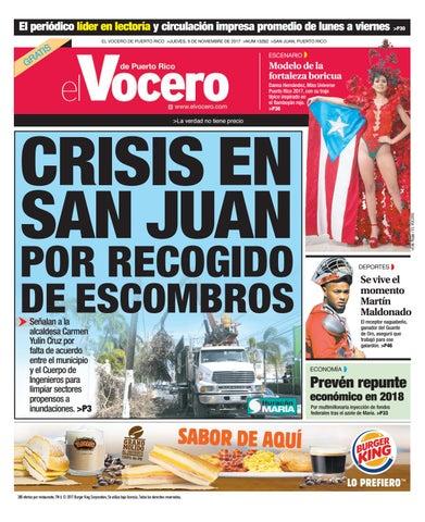24bf3e47e Edición del 9 de noviembre de 2017 by El Vocero de Puerto Rico - issuu