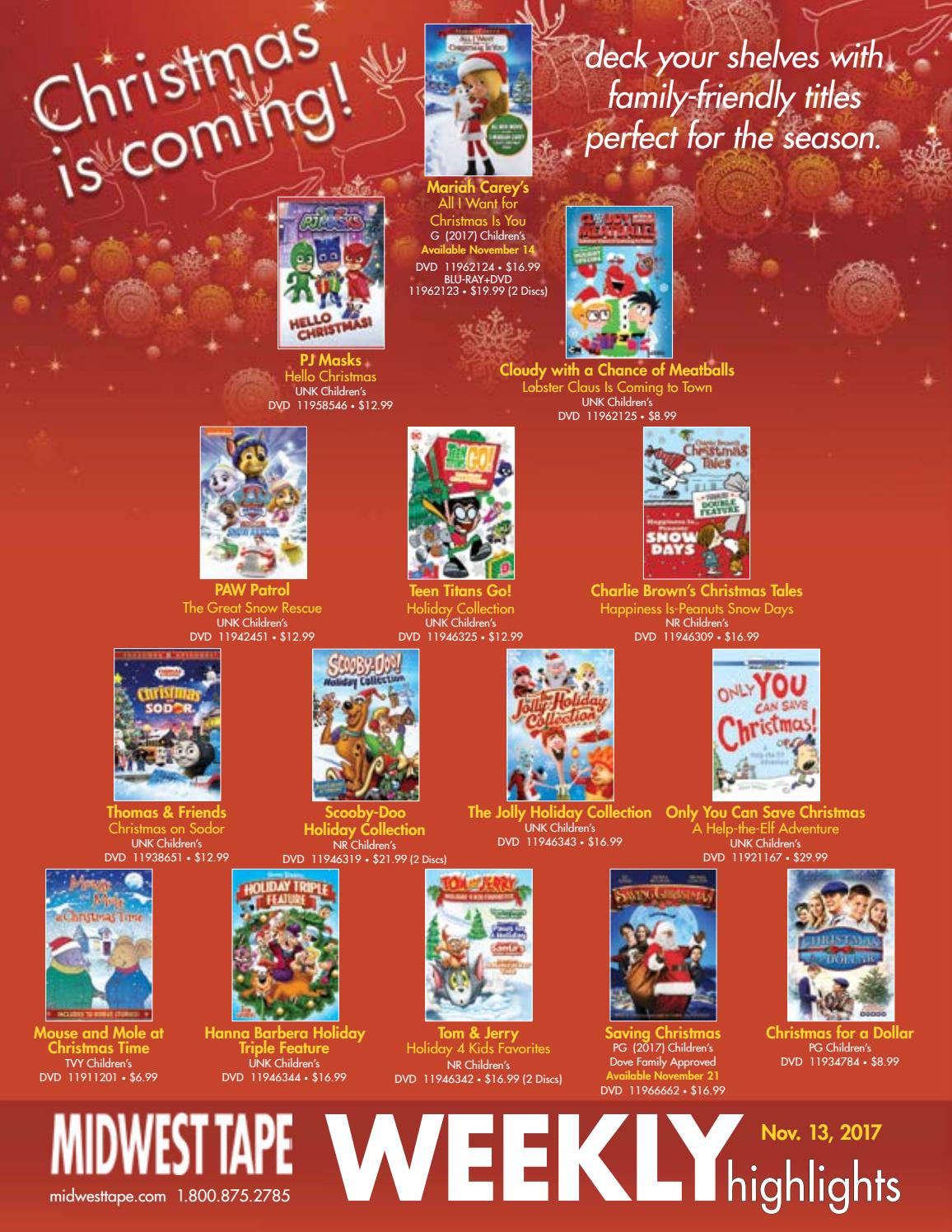 Hanna Barbera Christmas Dvd.Midwest Tape Weekly November 13 2017 By Midwest Tape Issuu