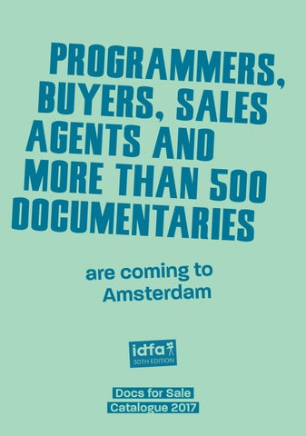 78d7b0ff207e0 Docs for Sale 2017 Catalogue by IDFA International Documentary Film ...