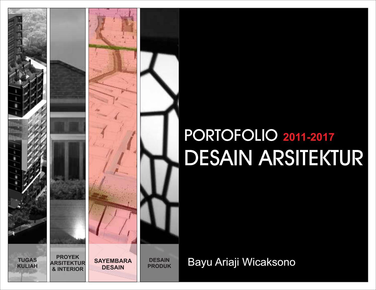 Portofolio Desain Arsitektur By Bayu Ariaji Wicaksono Issuu