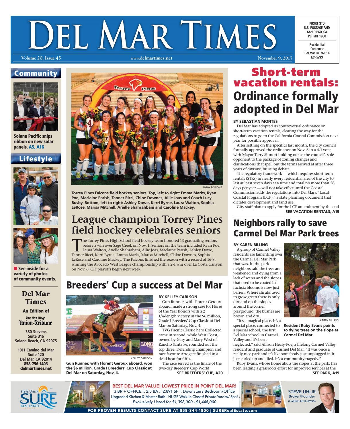 Del Mar Times 11 09 17 By MainStreet Media Issuu