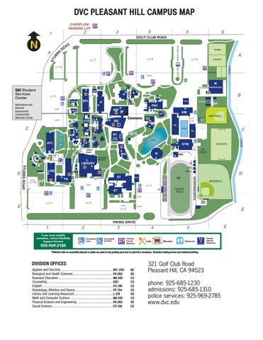 dvc pleasant hill campus map Spring 2018 Class Schedule By Diablo Valley College Issuu dvc pleasant hill campus map