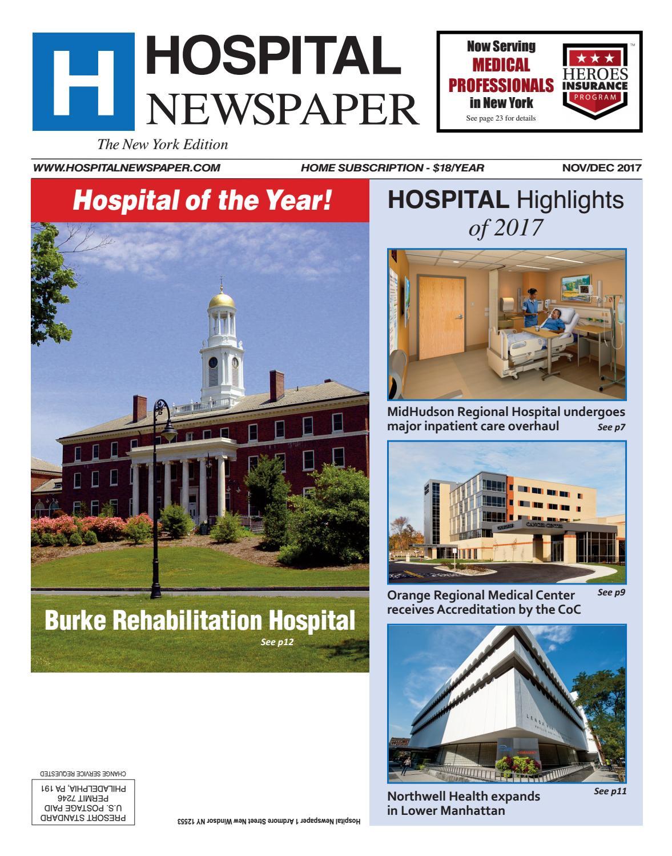 Hospital Newspaper New York Nov/Dec 2017 ebook by Belsito