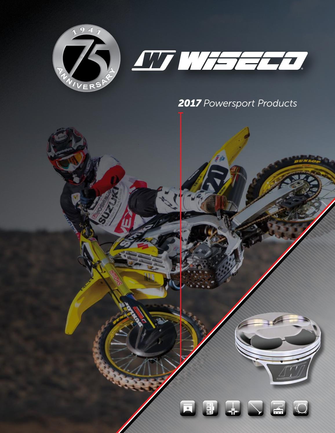 Wiseco PK1035 88.00 mm 10.0:1 Compression ATV Piston Kit with Top-End Gasket Kit