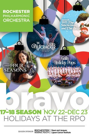 Bravo 4 By Rochester Philharmonic Orchestra Issuu